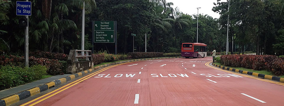 Slip Road before Coach Stand, T3 Changi Airport